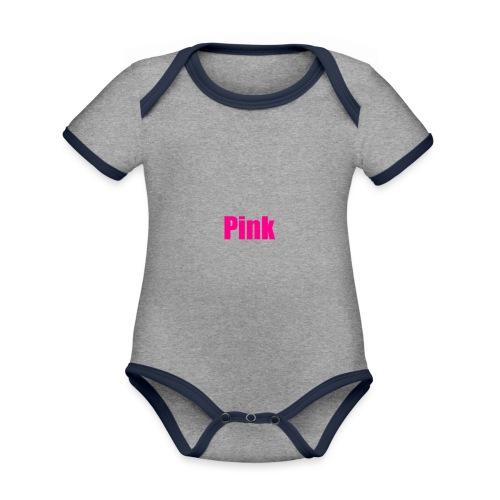 pink - Baby Bio-Kurzarm-Kontrastbody