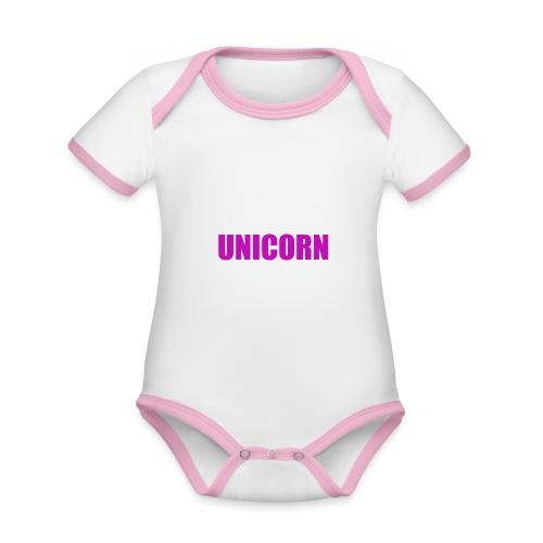 Unicorn - Baby Bio-Kurzarm-Kontrastbody