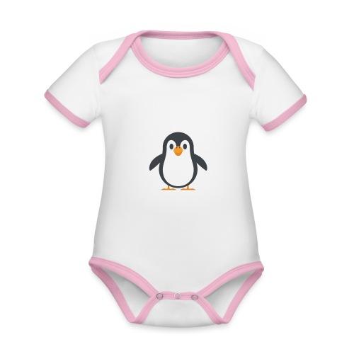 Pinguin - Baby Bio-Kurzarm-Kontrastbody