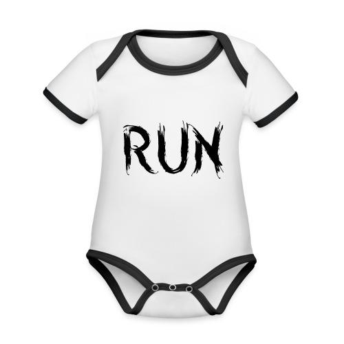 Run - Baby Bio-Kurzarm-Kontrastbody