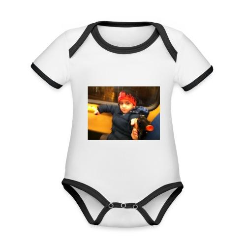 Rojbin gesbin - Ekologisk kontrastfärgad kortärmad babybody