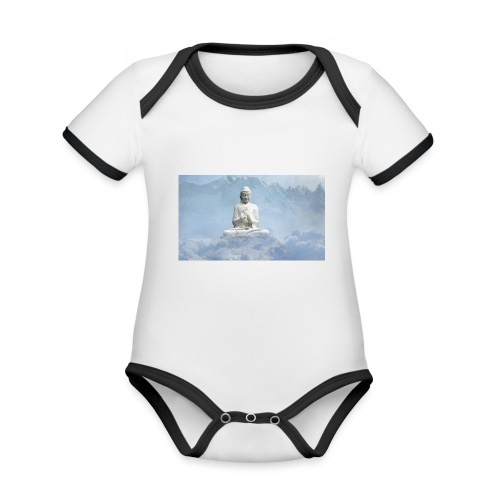 Buddha with the sky 3154857 - Organic Baby Contrasting Bodysuit