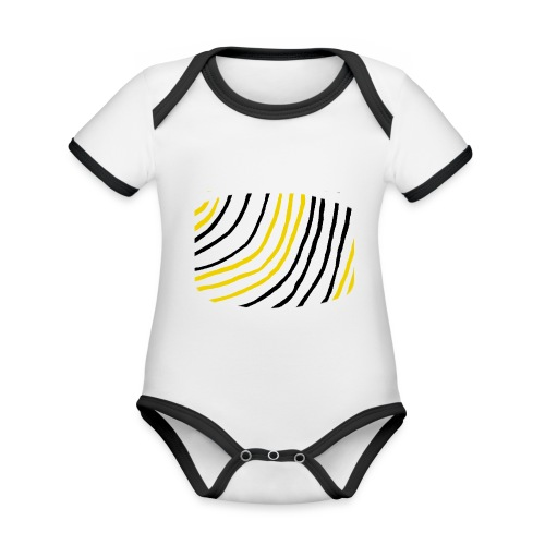 Raidat - Vauvan kontrastivärinen, lyhythihainen luomu-body