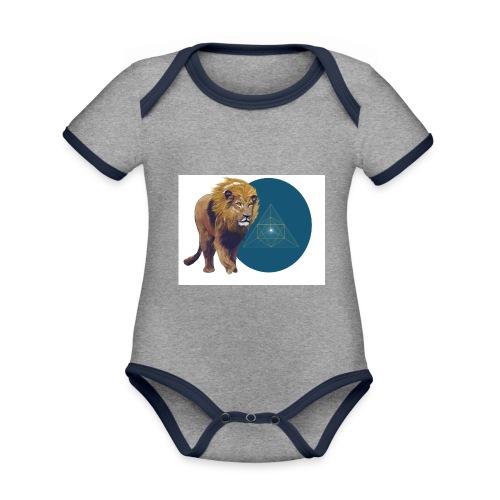 Löwe - Baby Bio-Kurzarm-Kontrastbody