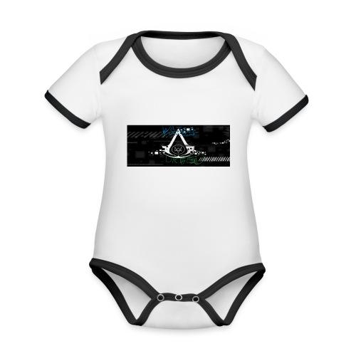 watch creed - Ekologiczne body niemowlęce z krótkim rękawem i kontrastowymi lamówkami