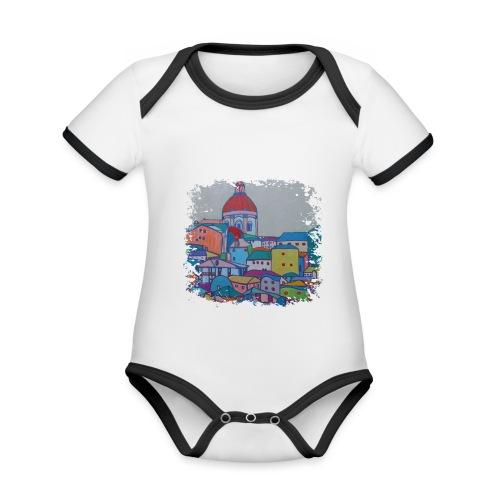 Lissabon - Baby Bio-Kurzarm-Kontrastbody