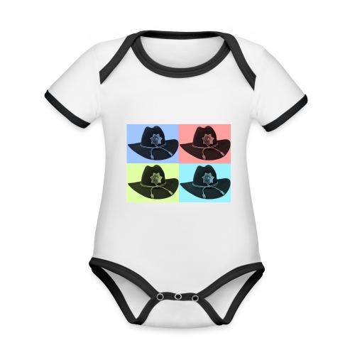 cuatro rick - Body contraste para bebé de tejido orgánico