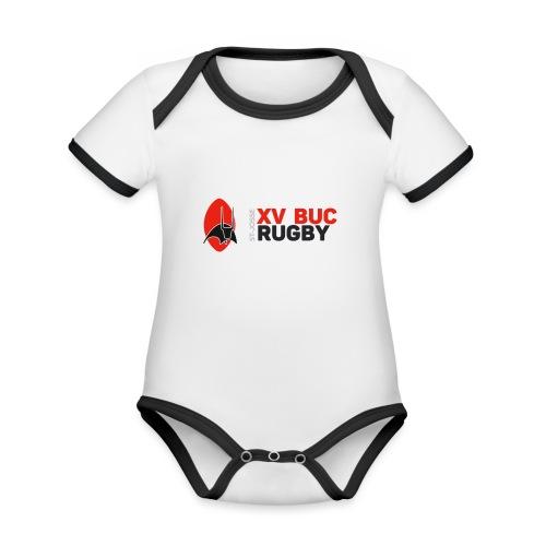 Nouveau logo - Body Bébé bio contrasté manches courtes
