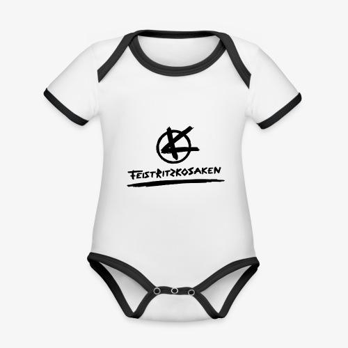 Feistritzkosaken Logo dunkel - Baby Bio-Kurzarm-Kontrastbody