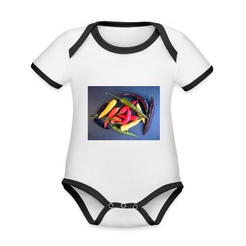 Chili bunt - Baby Bio-Kurzarm-Kontrastbody