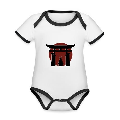 Torii and Samurai - Body Bébé bio contrasté manches courtes