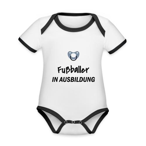 Fußballer in Ausbildung - Baby Bio-Kurzarm-Kontrastbody