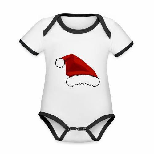 Joulutontun lakki - tuoteperhe - Vauvan kontrastivärinen, lyhythihainen luomu-body