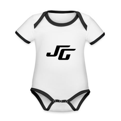 JG Logo schwarz - Baby Bio-Kurzarm-Kontrastbody