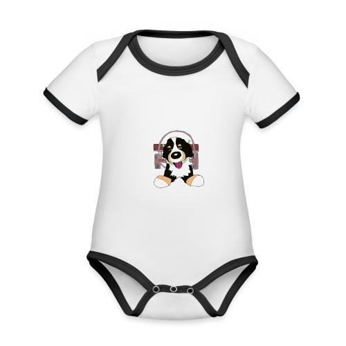 Bernerdrag - Ekologisk kontrastfärgad kortärmad babybody