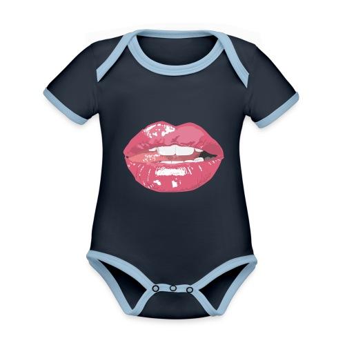 Sexy Mouth - Body Bébé bio contrasté manches courtes