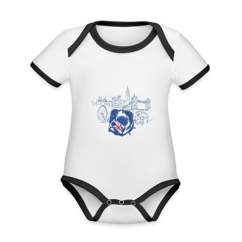London - Ekologisk kontrastfärgad kortärmad babybody