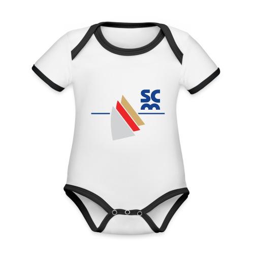 Modernes SCM Logo - Baby Bio-Kurzarm-Kontrastbody