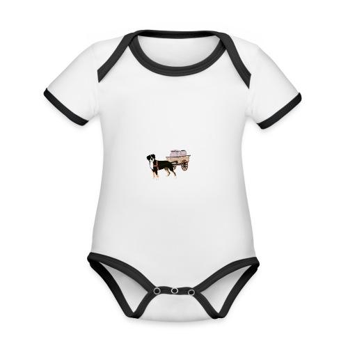 Grosser Drag - Ekologisk kontrastfärgad kortärmad babybody