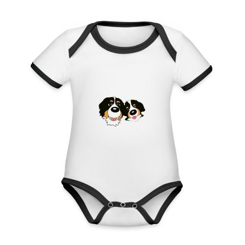 hane och hona - Ekologisk kontrastfärgad kortärmad babybody