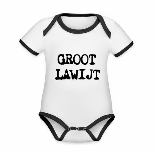 Groot Lawijt - Baby contrasterend bio-rompertje met korte mouwen