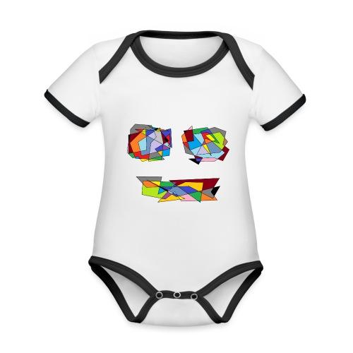 TheFace - Baby Bio-Kurzarm-Kontrastbody