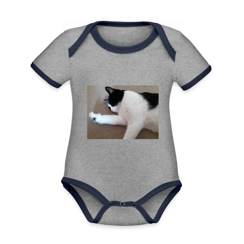 Chill like a cat! - Organic Baby Contrasting Bodysuit