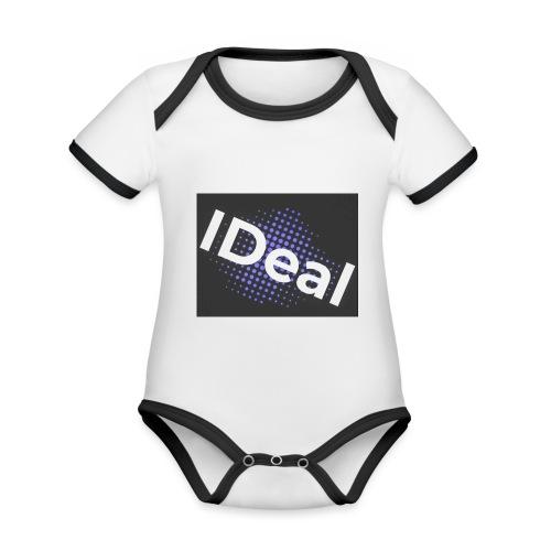 IDeal loggo - Ekologisk kontrastfärgad kortärmad babybody