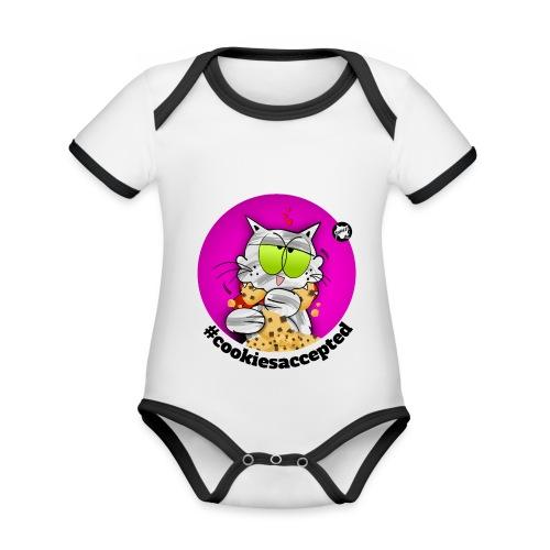 #cookiesaccepted - Baby Bio-Kurzarm-Kontrastbody