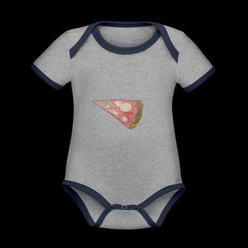 BY TAiTO Pizza Slice - Vauvan kontrastivärinen, lyhythihainen luomu-body