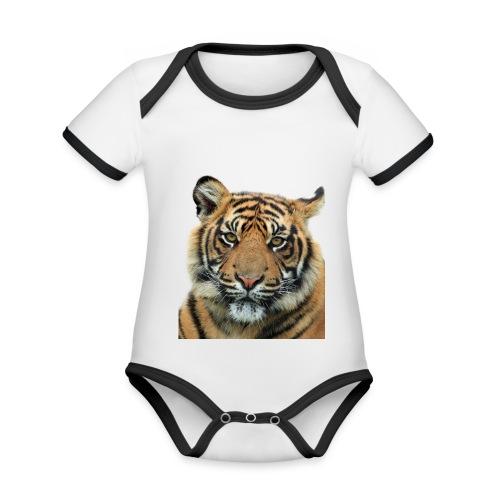 tiger 714380 - Body da neonato a manica corta, ecologico e in contrasto cromatico