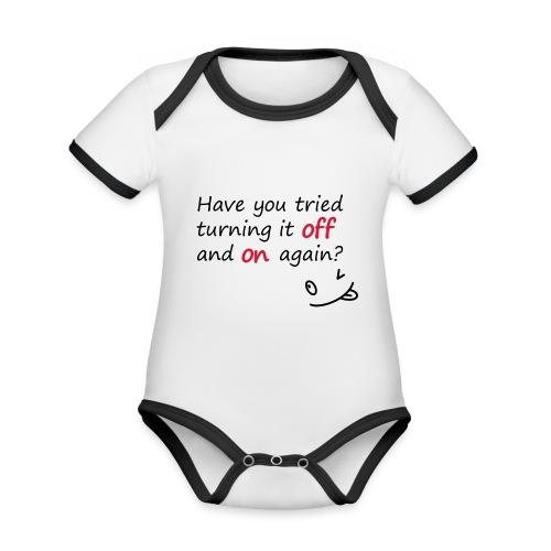 Have you tried turning it off and on again? - Body da neonato a manica corta, ecologico e in contrasto cromatico