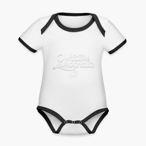 Uomo - Maglietta - Mattino Lombardia - Body da neonato a manica corta, ecologico e in contrasto cromatico