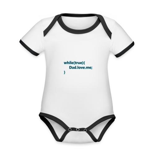 Dad love me - Body contraste para bebé de tejido orgánico