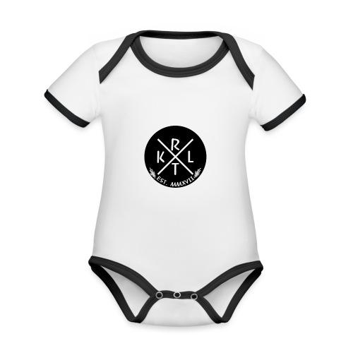 KRTL Original Brand - Baby contrasterend bio-rompertje met korte mouwen