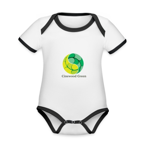 Cinewood Green - Organic Baby Contrasting Bodysuit