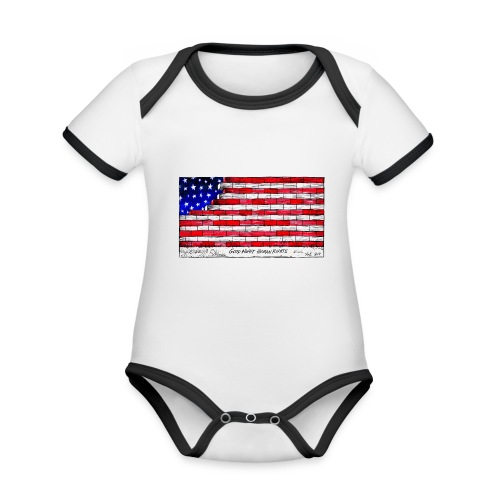 Good Night Human Rights - Organic Baby Contrasting Bodysuit