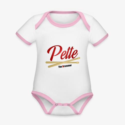 Pette the Drummer - Organic Baby Contrasting Bodysuit