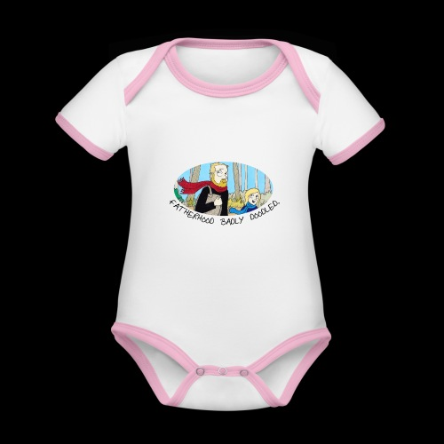 Fatherhood Badly Doodled - Organic Baby Contrasting Bodysuit