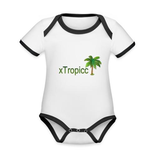 tropicc - Body Bébé bio contrasté manches courtes