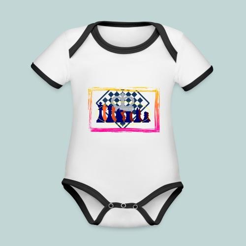 figurensatz_vor_brett - Baby Bio-Kurzarm-Kontrastbody