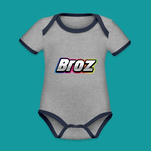 Broz - Baby contrasterend bio-rompertje met korte mouwen
