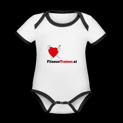 FitnessTrainer.at - Baby Bio-Kurzarm-Kontrastbody
