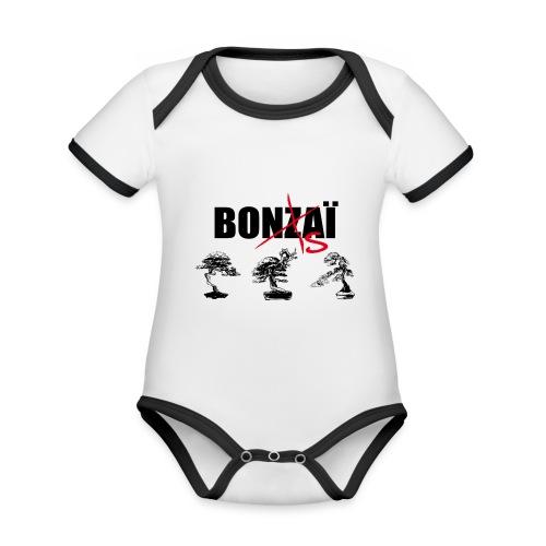 Bonsaï sans Z - Body Bébé bio contrasté manches courtes