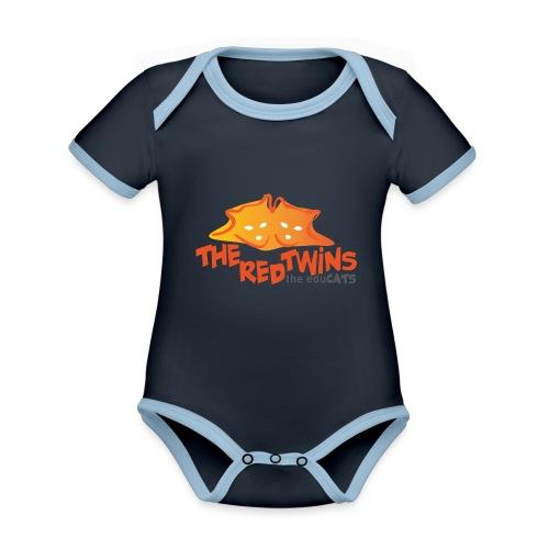 TRT Logo - Body da neonato a manica corta, ecologico e in contrasto cromatico