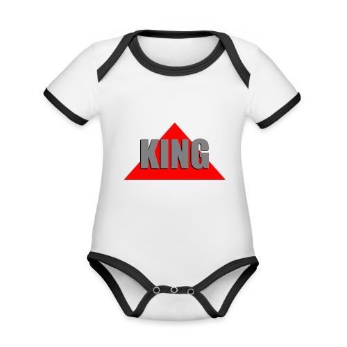 King, by SBDesigns - Body Bébé bio contrasté manches courtes
