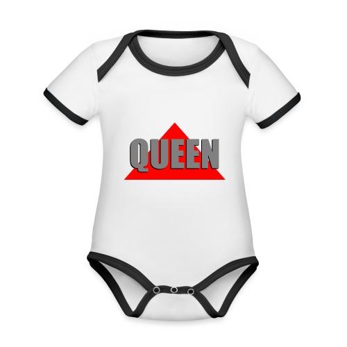 Queen, by SBDesigns - Body Bébé bio contrasté manches courtes