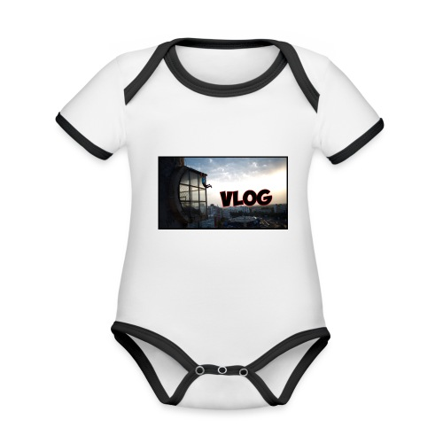 Vlog - Organic Baby Contrasting Bodysuit
