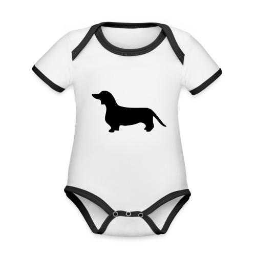 Dackel - Baby Bio-Kurzarm-Kontrastbody