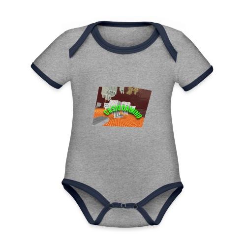 Logopit 1513697297360 - Baby contrasterend bio-rompertje met korte mouwen